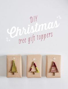 DIY Christmas Tree Gift Toppers - make your gifts look extra special this year.