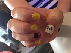Mickey Mouse/Disneyland glitter nails