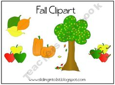 clipart for fall!...apples, leaves, pumpkins. only $1.00!