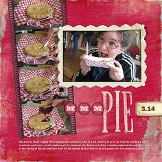 """Mmm, Pie"" digital scrapbooking layout #digiscrap"