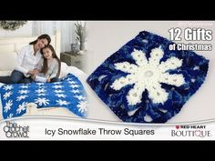 Crochet Icy Snowflake Throw Tutorial