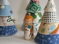 fabric christmas trees w/template