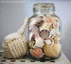 Rustic Nautical Master Bedroom Makeover...accent pieces via thinkingcloset.com
