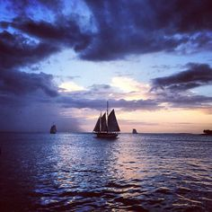 Winter sunsets in Key West, #Florida are just as romantic as their summer counterparts. Photo courtesy of eachapman4 on Instagram.