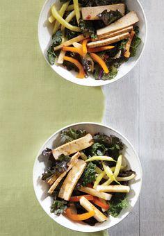 Asian Kale, Green Bean, and Tofu Salad