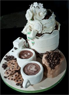 Starbucks Wedding Cake