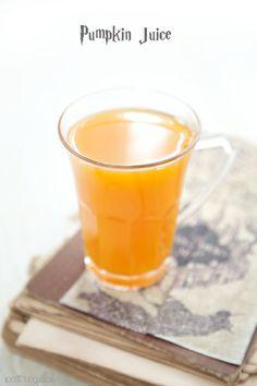 Harry Potter vegan menu Jus de citrouille/ Pumpkin juice