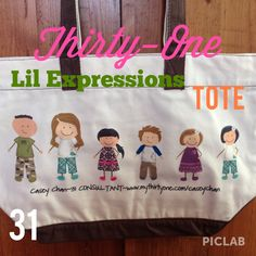 My Thirty-One Little Expressions Tote!!  So cute!!