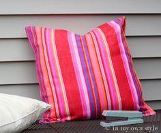 Plastic-Bag-Outdoor Pillow tutorial