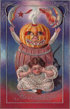 halloween postcard, halloween cards, halloween pumpkin