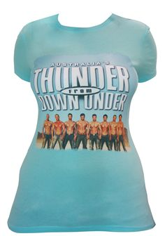 $24.95 Thunder From Down Under New Photo T Shirt. Blue  www.facebook.com/thundervegas