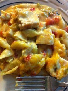 Fiesta Chicken Casserole:  2 cups chicken breast grilled