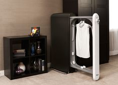 Here's a $500 Dry-Cleaning #Machine That Fits in Your #Closet - Swash is intended to live in the bedroom, which necessitated a different approach to the appliance's industrial design.