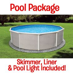 "Above Ground Round Pool, Belize 48"" Deep! Round size options are 12 ft. 15 ft. 18ft. 21 ft. 24 ft. or 27 ft."