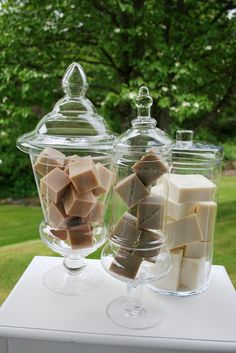 This might be a cute way to display some soaps at a craft fair!