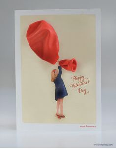 Balloon Valentine's Day Card // Willow Day