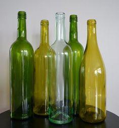 wine bottles no labels