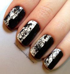 Monochrome Splatter #nails #nailart