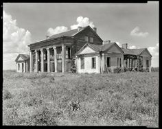 "Assumption Parish, Louisiana, 1938. ""Woodlawn Plantation  This is in a book I have, ""Lost Plantations of the South""... I'm so in love with it and so sad it is no longer standing :("