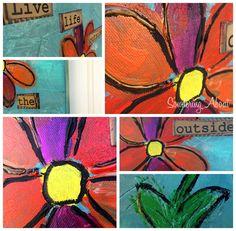 DIY Mixed Media Canvas Wall Hanging