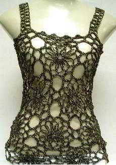 free crochet flower patterns for women's clothing
