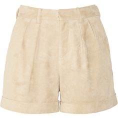 Ralph Lauren Black Label Lizette suede shorts ($480) ❤ liked on Polyvore