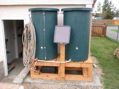 Solar Powered Water Barrel