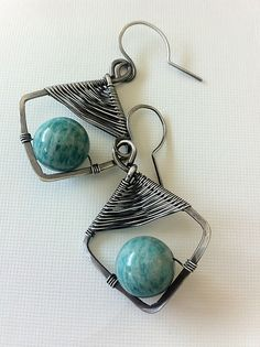DIY bead earring ideas - different wire strength