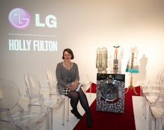 Holly Fulton launches 'Holly Fulton for LG' washing machine.  But if you'd prefer some colour... why not customise this machine to suit your style at www.ao.com/Holly-Fulton-for-LG