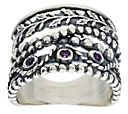 Or Paz Sterling Crossover Textured Amethyst — QVC.com