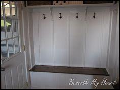 coat rack storage area