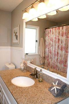 bathroom - I like the color and the light bar