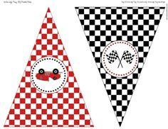Vintage Racecar Happy Birthday Banner - DIY Printable Parties