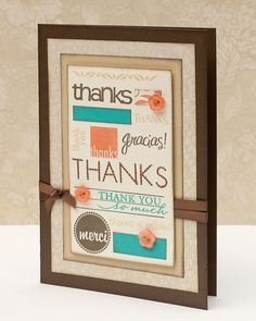"""""""Thank You"""" card inspiration from #CTMH."""
