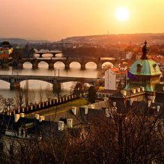 Fancy - Prague czechrepubl, sunsets, the bridge, czech republic, travel, bridges, place, prague, river