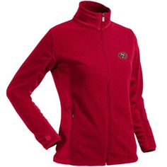 LIMITED TIME: All sweatshirts, jackets and hats are marked down 15-40% at Fanatics. Get this Antigua Full Zip Jacket for only $55.21: http://pin.fanatics.com/NFL_San_Francisco_49ers_Ladies/Antigua_San_Francisco_49ers_Ladies_Sleet_Microfleece_Full_Zip_Jacket_-_Scarlet/source/pin-49ers-sweats-sale-sclmp