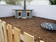Love this!!!! backyard ideas for dogs area
