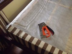 how to cover your boxspring in fabric