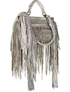 Roberto Cavalli Fringed Bag