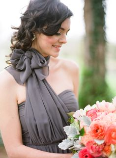 gray bridesmaid dress   Marta Locklear
