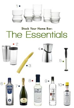Bar Basics: Stock Your Home Bar
