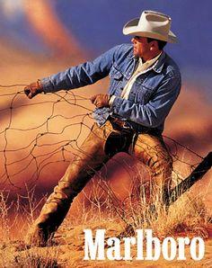 cowboy, marlboro man, fenc repair, advertis, gloves
