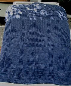 Free knitting pattern for baby blanket with sailboats