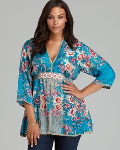 Johnny Was Plus Size Silk  Tunic | Bloomingdale's