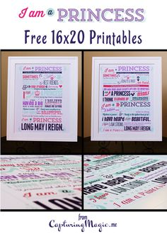 I Am A Princess Free Printable