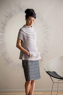 Ruched Yoke Sweater by Carol Feller