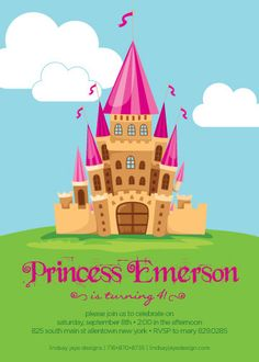 Princess Birthday Invitation by LindsayJayeDesign
