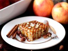 Apple Pie Blondies with Brown Sugar Frosting