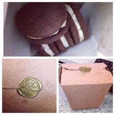 """Customer submitted photo: """"Use these as gift boxes. """" - Michael F. Whoopie pies- the perfect gift"""