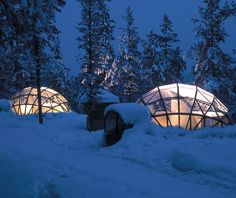 glass igloo, glasses, sleeping bags, aurora borealis, igloo villag, northern lights, finland, place, hotels